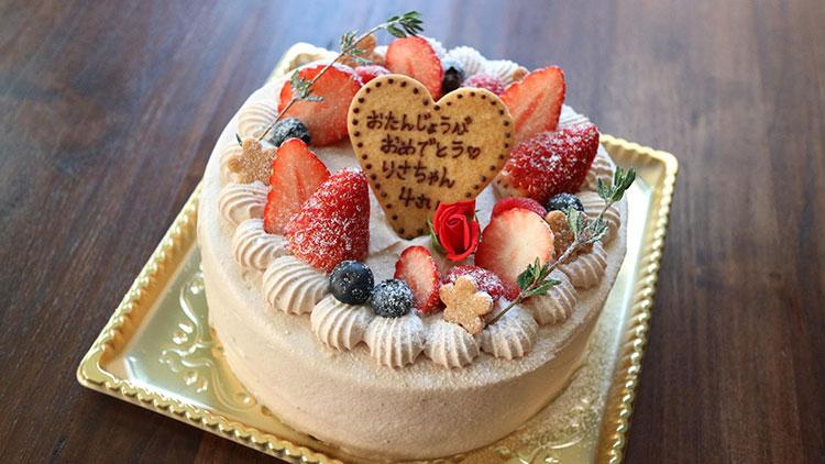 バースデーケーキ チョコショート|オリイーリオ oliilio 大切な愛犬ととっておきの時間をすごせるDOGドッグカフェ&ダイニング